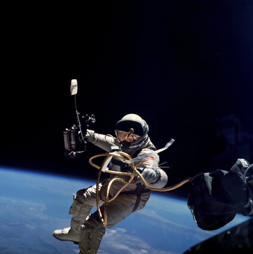 Gemini IV spacewalk (NASA image; public domain)